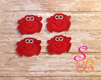 Set of 4 crab felties