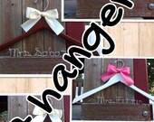 SEVEN wedding hangers / SHIPS From USA/ Personalized Wedding Hanger / Brides Hanger
