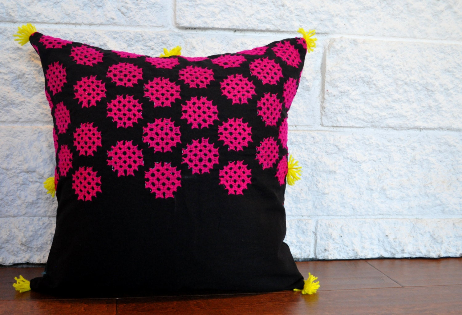 Etsy Pink Throw Pillow : Pink Throw Pillow Covers Black Pillows Indian Throw Pillow