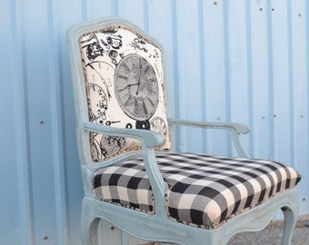 Vintage Upholstered Accent Chair