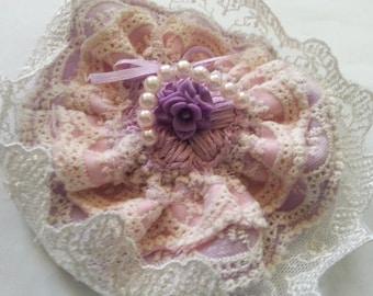 Sweet lolita fascinator  brooch cult party kei accessory clip lace pin  cute fascinator