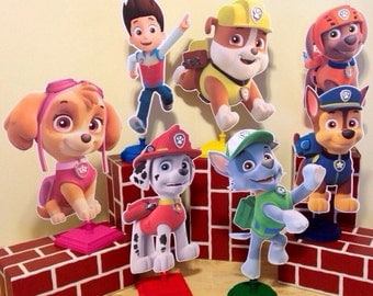 Paw Patrol Centerpieces set of 8