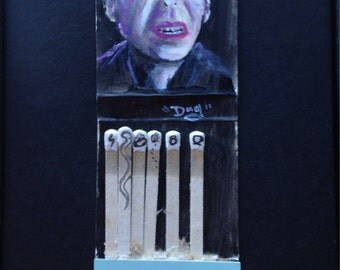 Matchbook painting - Voldemort - Harry Potter