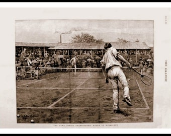 Wimbledon Game of Tennis 1888