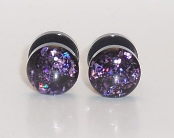 Galaxy Pink Glitter Fake Plugs