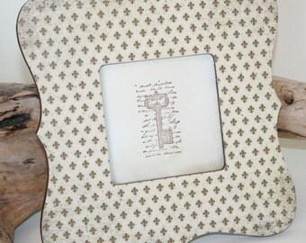 Fleur de lis Picture frame, Photo frame, Fleur de lis decor