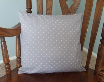 Throw Pillow Covers - Grey & White Poka Dots, Pillow Decor, Home Decor, Home Accents, Gift, Gift for Mom