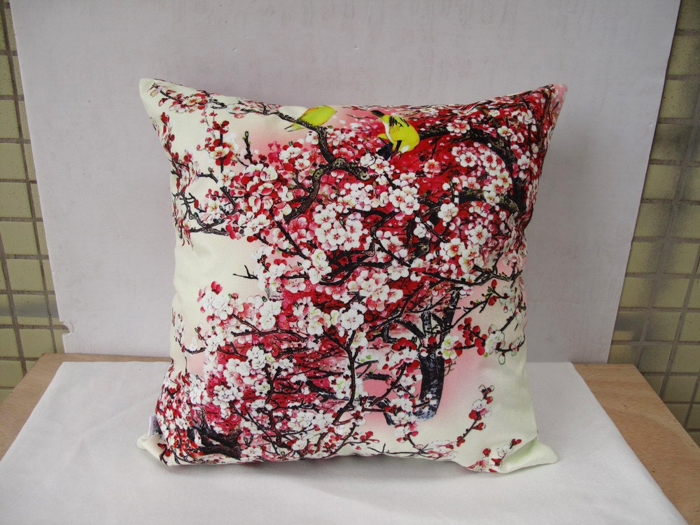 Decorative Velvet pillow cover throw pillow cases Plum Blossom