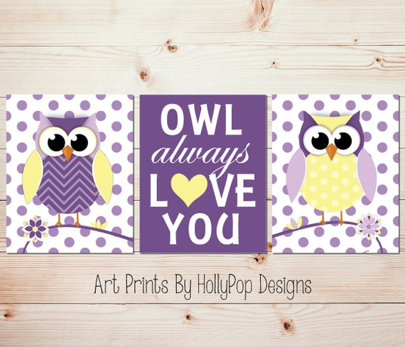 Owl Nursery Art Owl Always Love You Modern Nursery Wall Art