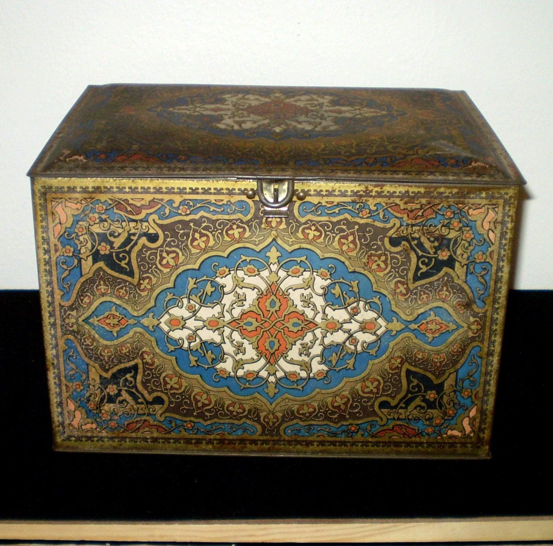 Tin Mailbox: Antique Art Deco Heinz 57 Tin Biscuit Box Storage Large
