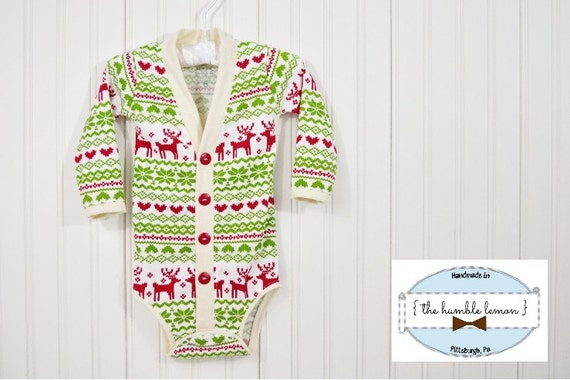 Holiday baby cardigan