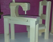 """18"""" doll sewing table w/chair & sewing machine"""