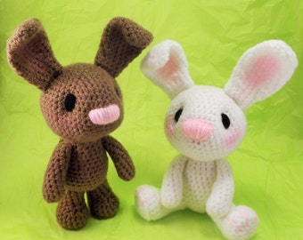 Little Bunny Amigurumi Pattern, Easter Rabbit Crochet Pattern PDF file only, doll not included.