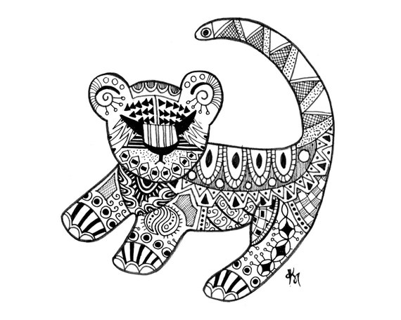 tribal print animal coloring pages - photo#44