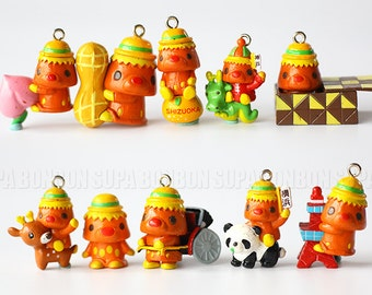 2 pcs / Shizuoka / Japanese / Charm / Figurine / Dollhouse / Toy Figurine / 2CM - 2.9CM / JP439