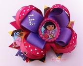 Dora Hair Bow, Dora the Explorer, Dora Birthday Shirt, Dora Outfit, Dora Headband, Dora Birthday Party, Dora Dress