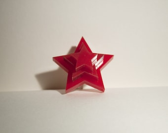 Cute Red 3D Star Ring Free-Size Kawaii Lolita Accessory