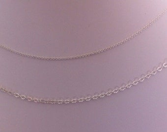 Argentium Sterling Silver Chain By the Foot