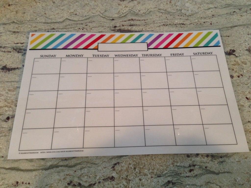 printable calendar, wall calendar, rainbow calendar