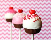 12 Cupcake Cake Pops for Valentine's Day, birthday party or wedding favor, teacher gift, Candy Land theme, dessert, pastry, or candy buffet - SweetWhimsyShop
