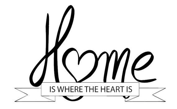 """Items Similar To Wall Saying """"Home Is Where The Heart Is"""
