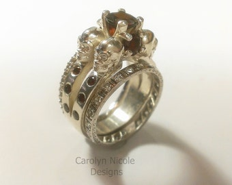 Skull engagement ring Etsy