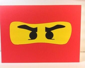 Handmade Red Ninja Card