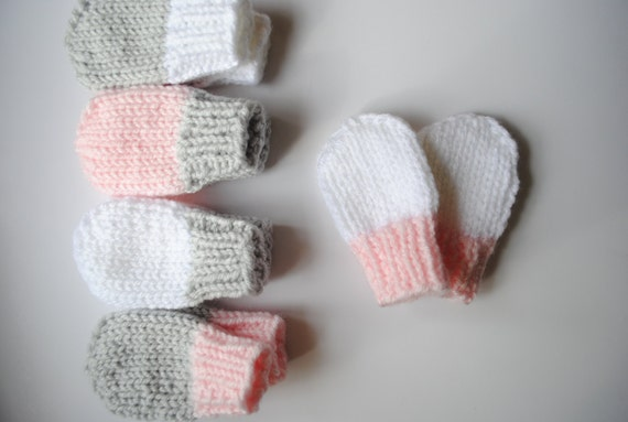 Knitting Pattern For Thumbless Mittens : Pattern - Baby Mittens - Thumbless Knit