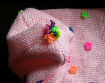 Pink CAP with crochet finery - Icelandic Production