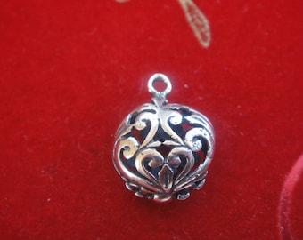 925 sterling silver oxidized heart, silver heart, heart charm