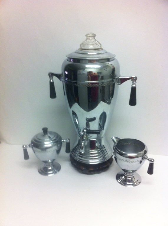 Vintage Electric Coffee Maker : Vintage Electric coffee Maker with creamery and by BETOSVINTAGE