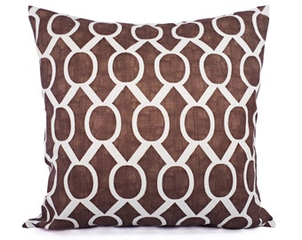 Two Brown Decorative Pillow Covers - Brown Throw Pillow Covers - Decorative Pillow 12x16 12x18 14x14 16x16 18x18 20x20 Pillow
