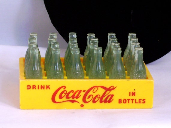 Miniature Toy Coca Cola Coke 24 Bottle Case Crate By Urstoday