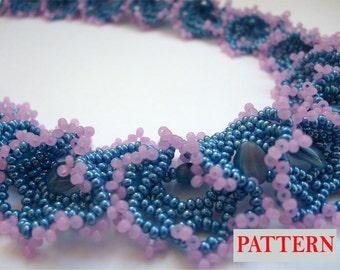 Beadweaving pattern Beaded necklace tutorial beading pattern beadwork instructions pattern PDF Instant Download Scheme Beadwoven seed bead