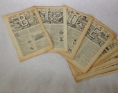 Alphabet Pages - French pages with Alphabet, Circa 1936, Missing A