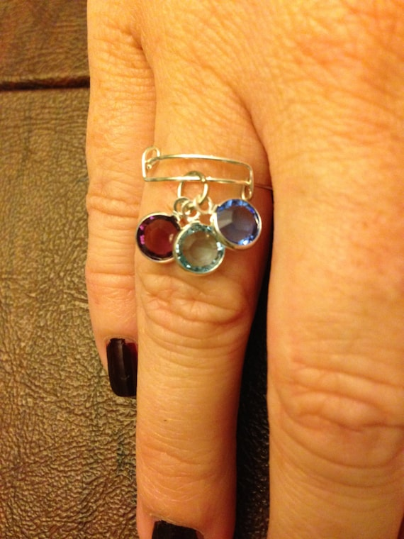 alex and ani inspired adjustable ring birthstone ring