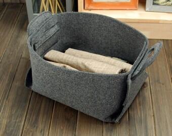 20%OFF! Versand kostenfrei Filz Aufbewahrungsbox Filz Basket Container Filz Bin Tote Box Big Bag Aufbewahrungstasche best gift E1768-MGra01