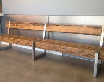 rustic modern patio furniture cedar wood bench by