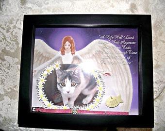 Pet Memorial Angel Shadow box & Pet memorial shadow box | Etsy Aboutintivar.Com