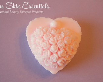Floral Heart-Shaped Soap - Great Wedding Party Favor or Gift - Made To Order