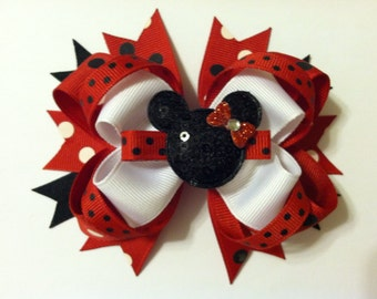 Interchangeable Minnie Mouse Hairbow and Clippie
