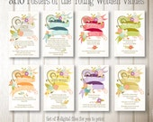 Set of eight 8x10 designs - LDS Young Women Values - INSTANT digital downloads