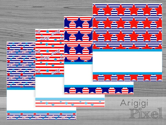 printable tent card,  patriotic holidays, stars and stripes, BBQ party cards, Labor day barbecue, buffet, place setting, download