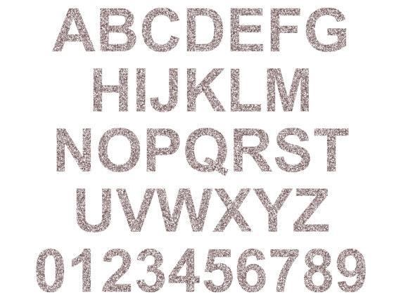 Glitter Alphabets and Numbers  Scrapbookcom