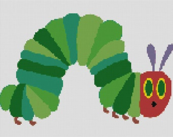 Hungry Caterpillar Cross Stitch Pattern