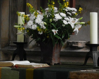 Photography, Church altar, high gloss, Premium Paper, signed