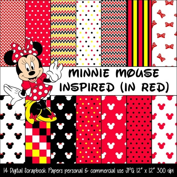 Basket Weaving Supplies Richmond Va : Minnie mouse inspired red polka dot bow digital paper