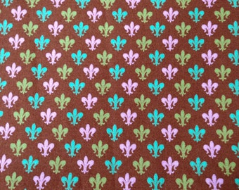 Fleur de Lis print from Plume by Tula Pink