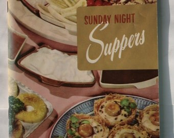 """1965 Culinary Arts Institute Cook Book, """"Sunday Night Suppers"""""""