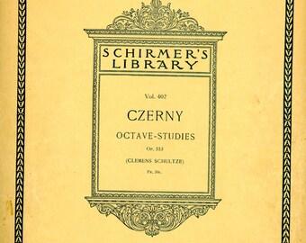 1908 Piano Student Lesson Book - Czerny